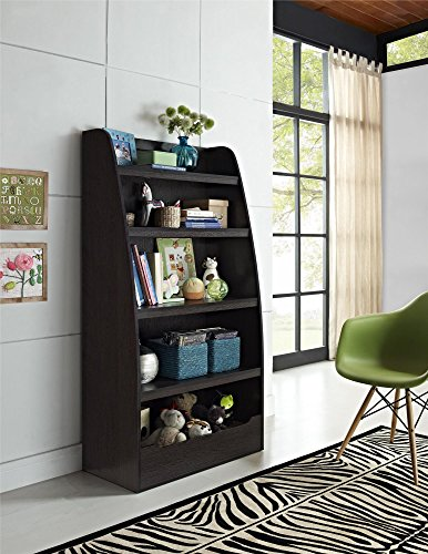 Brown Kids Bedroom Furniture - Ameriwood Home Hazel Kids 4 Shelf Bookcase, Espresso