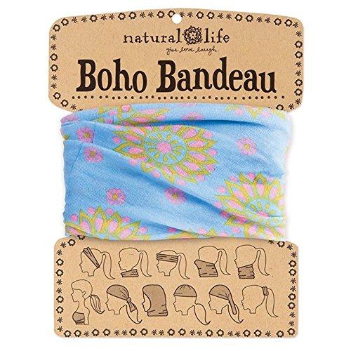 Natural Life Boho Bandeau Blue & Pink Mandala Pattern