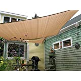 Shade&Beyond 8' x 10' Sun Shade Sail Canopy Rectangle Sand Color UV Block Outdoor Facility Activities