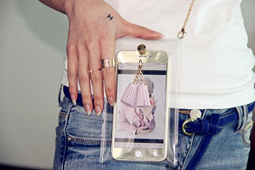 Crossbody Bag Tassel Phone Passport Cell bag Candy Mogor Yellow Tote Bag Coins Clear Purse 1YF6qw0