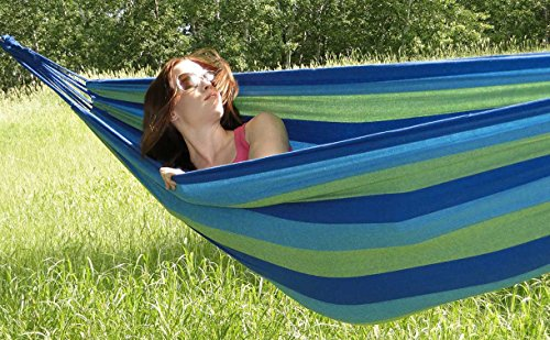 An Outdoor Hammock is a great patio idea for small spaces