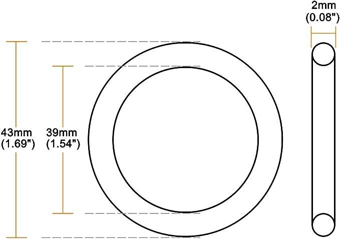 uxcell joints toriques en caoutchouc nitrile 4/mm d/étanch/éit/é Bagues d/étanch/éit/é joints 27mmx35mmx4mm