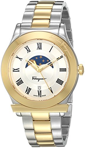 Salvatore-Ferragamo-Mens-FERAGAMO-1898-Quartz-Stainless-Steel-Casual-Watch-ColorTwo-Tone-Model-FBG060016