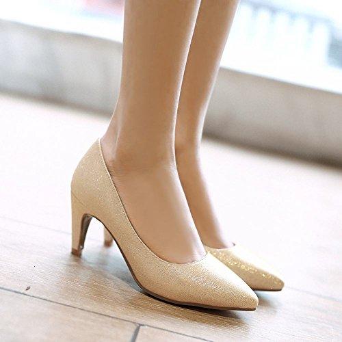 Fascino Scarpe Donna Moda Scarpe A Punta Tacco Alto Scarpe Oro