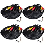 VideoSecu 4 x 150 Feet Audio Video Power Security Camera Cables with Free BNC RCA Connectors for CCTV Home Surveillance Cameras DVR System 1LU, Best Gadgets