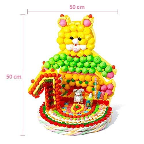 Tarta de chuches Oso con números cumpleaños: Amazon.es: Handmade