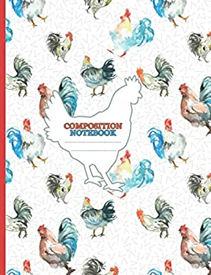 Chicken Lover Lined Composition Notebook - Watercolor Country Hen Theme: Blank College Ruled Writing Book for School, Work or Home (Crazy Chicken Lady Gifts Vol 2)