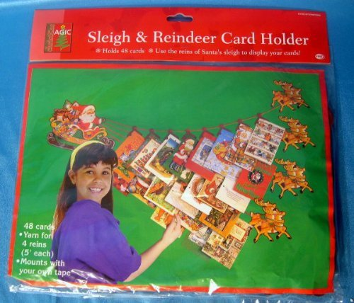 Pms Sleigh & Reindeer Card -