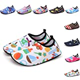 Sixspace Kids Water Shoes Swim Shoes Quick-Dry Barefoot Sock Shoes for Beack Swim Pool Yoga,White 30/31