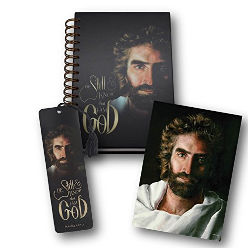 Be Still Journal – 3 Piece gift set featuring Prince of Peace - the Akiane Kramarik painting verified as the real face of Jesus By Colton Burpo in Heaven Is for Real Book and Movie