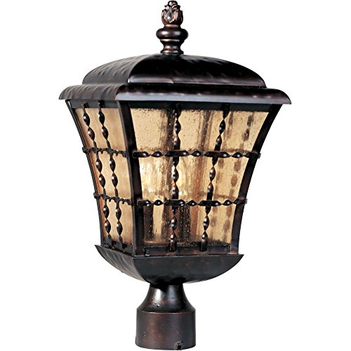 Maxim 30490ASOI Orleans 3-Light Outdoor Pole Post Lantern Oil Rubbed Bronze .#GH45843 (Orleans Post Lantern Set)