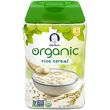 Amazon gerber baby cereal organic rice cereal 8 ounce 6 count gerber baby cereal organic rice cereal 8 ounce 6 count ccuart Choice Image