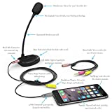 Stony-Edge Simple Webcaster Condenser Gooseneck Microphone. Works With Smartphones, Tablets, Laptops And Desktop Devices. Mic For Video Conference, Podcast
