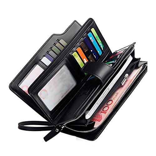 Ladies Black Checkbook Wallet - 6
