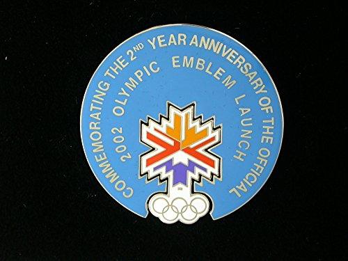 (2002 Salt Lake City Olympics 2 Piece 2nd Year Anniversary Emblem Launch Pin)