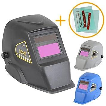Linxor Máscara de soldadura automática 9 a 13 DIN + 2 gafas protectoras - tres colores - Norma EN379 y EN176: Amazon.es: Hogar