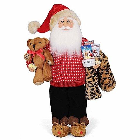Movie Time Santa Figurine by Karen Didion by Karen Didion