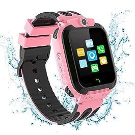 N//A Kids Smart Watch Girls LBS Touch Screen SOS Call Waterproof IP68 Camera Kids Phone Watch Alarm Class Mode Toys Gift…