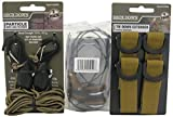 PROGRIP Deck Down 929590 Tie Down Bundle with Extension Straps (Pack of 4), Rope Lock Tie Down (Pack of 2) and Deck Anchors, Brown (Pack of 4)