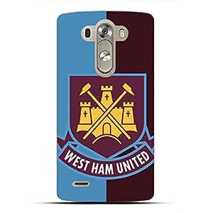 Famous Design FC West Ham United Football Club Phone Case Cover For LG G4 3D Plastic Phone Case