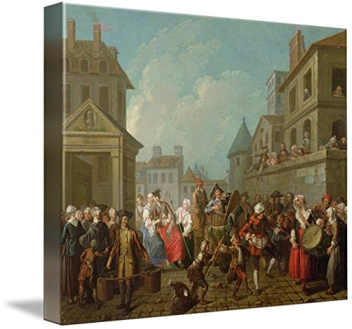 Imagekind Wall Art Print Entitled Street Carnival in Paris, 1757 by The Fine Art Masters | 10 x - Dresser Paris Master