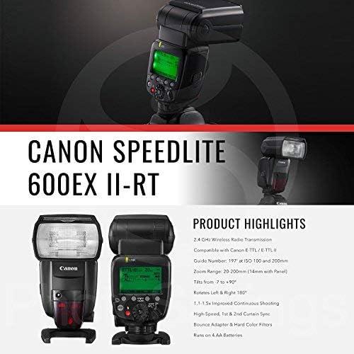 Shoe Mount Flashes Canon Speedlite 600EX II-RT with Deluxe ...