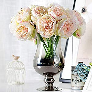 GSD2FF 5 Heads Artificial Flowers Peony Bouquet Silk Peony Flowers Bridal Bouquet Fall Vivid Wedding Home Decoration 15