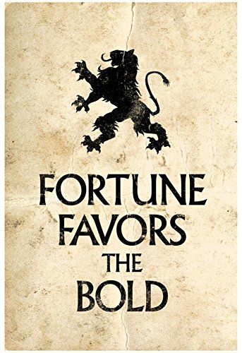 Laminated Fortune Favors the Bold Motivational Latin Proverb Poster