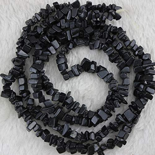 - 5-8mm Black Agate Onyx Chips Chip Beads Loose Gemstone Beads for Jewelry Making 70g/Bag