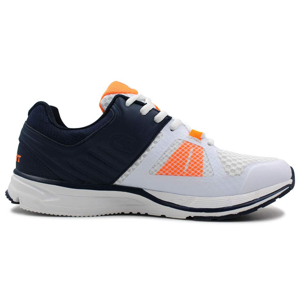 CIG Mens Running Shoes for Men Sport Shoes Mesh Ultra Lightweight Breathable Athletic Running Walking Gym Shoes White//Navy