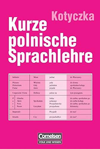 Kurze Polnische Sprachlehre  Nachschlagewerk
