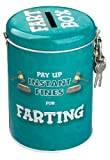 Boxer Instant Fines Pay Farting Money Tin, Blue, 14x9x8cm