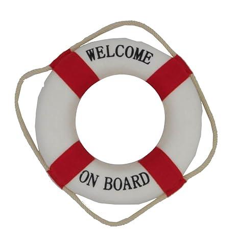 Rettungsring Dekorettungsring Willkommen an Bord