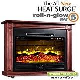 Heat Surge Roll-N-Glow EV-5 Electric Fireplace in Dark Cherry
