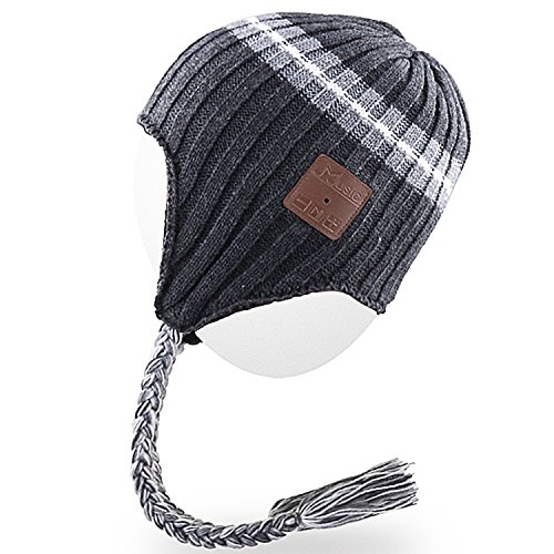 Rotibox Bluetooth Beanie Hat, Winter Knit Cap with Wireless Stereo Headphone Headset Earphone Speaker Mic Hands Free for Outdoor Sports Skiing Snowboarding Running Jogging,New Year
