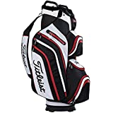 (US) Titleist Deluxe Cart Bag, Black/White/Red