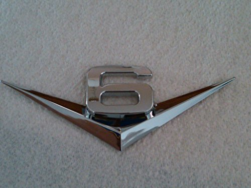 V6 / V8 Chrome Emblem Badge Trim (V6) (2007 Yukon Gmc Emblem compare prices)