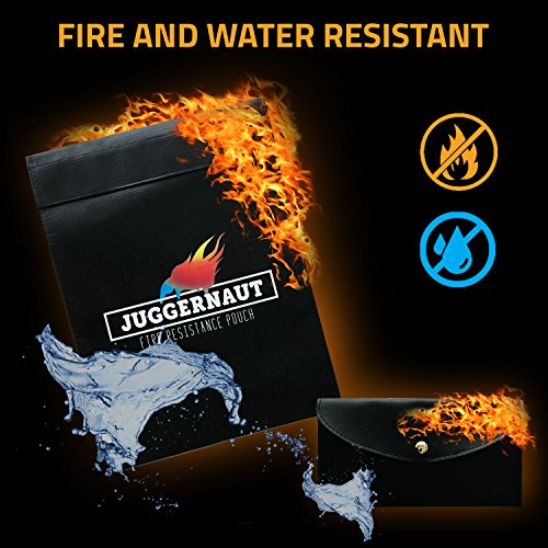 """Fireproof Document Bag by Juggernaut 15"""" x 11""""