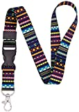 SENLLY Trib Vintage Detachable Lanyard Premium Quality Neck Strap, with Snap Buckle and Metal Clasp, for Id Badges, Card Holder, KeyChain, Charms, Cell Mobile Phone etc