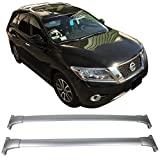 car accessories nissan pathfinder - Roof Rack Fits 2013-2017 Nissan Pathfinder | Chrome Aluminum Top Cross Bar Rail Pair by IKON MOTORSPORTS | 2014 2015 2016