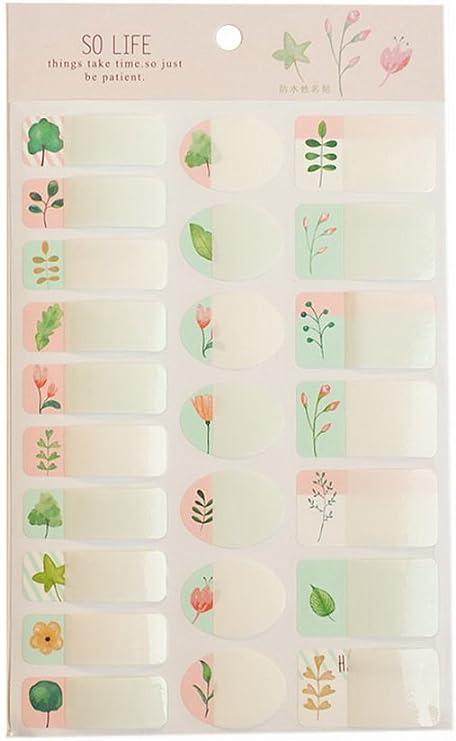 Waterproof Colorful Floral Name Labels