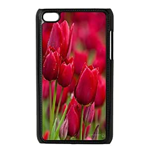 [QiongMai Phone Case] FOR IPod Touch 4th -Beautiful Holland Tulip Flower-IKAI0447274