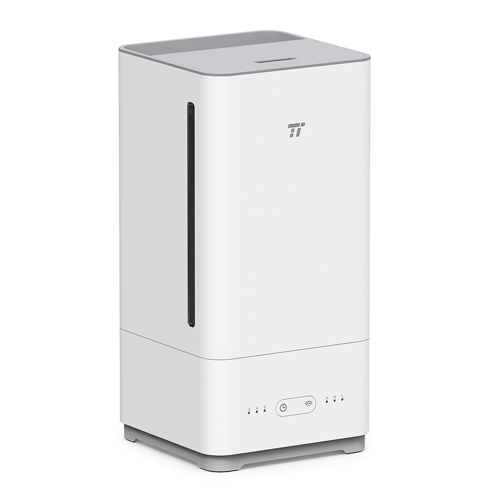 TaoTronics Top Fill Humidifiers Ultrasonic Cool Mist Essential Oil Diffuser Humidifier, Easy to Clean for Home Baby Large Room, 3 Mist Levels, Timer, Waterless Auto Shut Off -(5L/1.32 Gallon, US 110V)