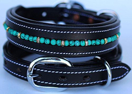 PRORIDER XSmall 9''- 13'' Rhinestone Dog Puppy Collar Crystal Cow Leather 6021A