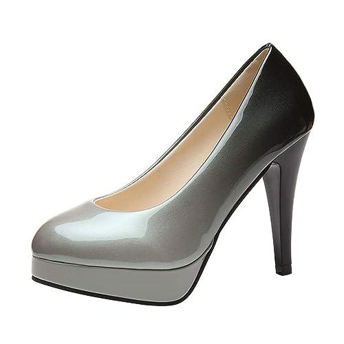 f858dbaf132c1 PADGENE - Zapatos de Vestir de Otra Piel Mujer  Amazon.es  Zapatos y  complementos