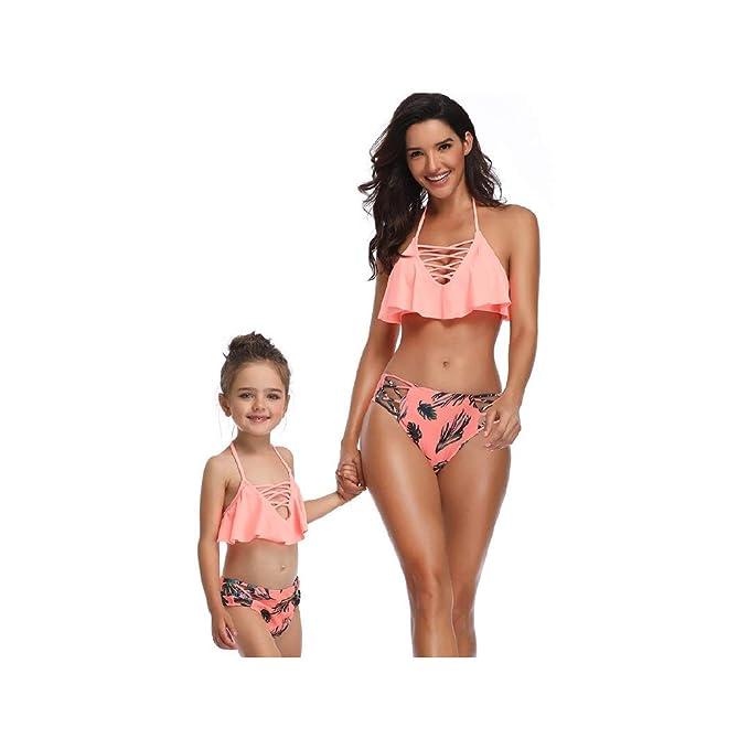 cdbf315f84 Bikinis Niña Camisolas Madre e Hija Ropa Traje de baño Mujer Dos Piezas Ropa  de baño