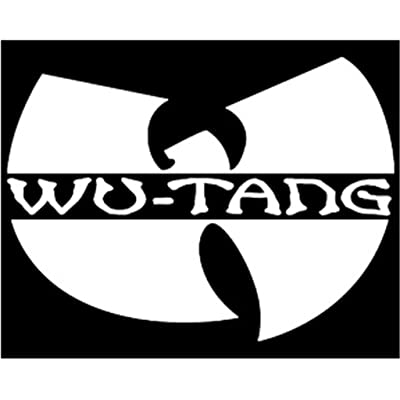 WU Tang Clan Logo Wu Tang Symbol Decal Vinyl Sticker|Cars Trucks Vans Walls Laptop| White |5 x 3.5 in|CCI499: Automotive
