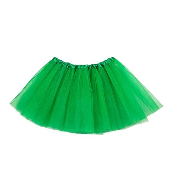 OULII Falda de tutú 3 Capas de Ballet vestirse para niños Falda de ...