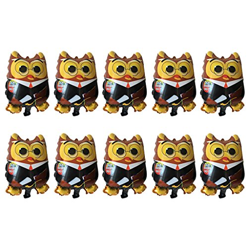 Jili Online 10Pieces OWL Congrats Happy Graduation Balloon Graduate Balloon Party Supply