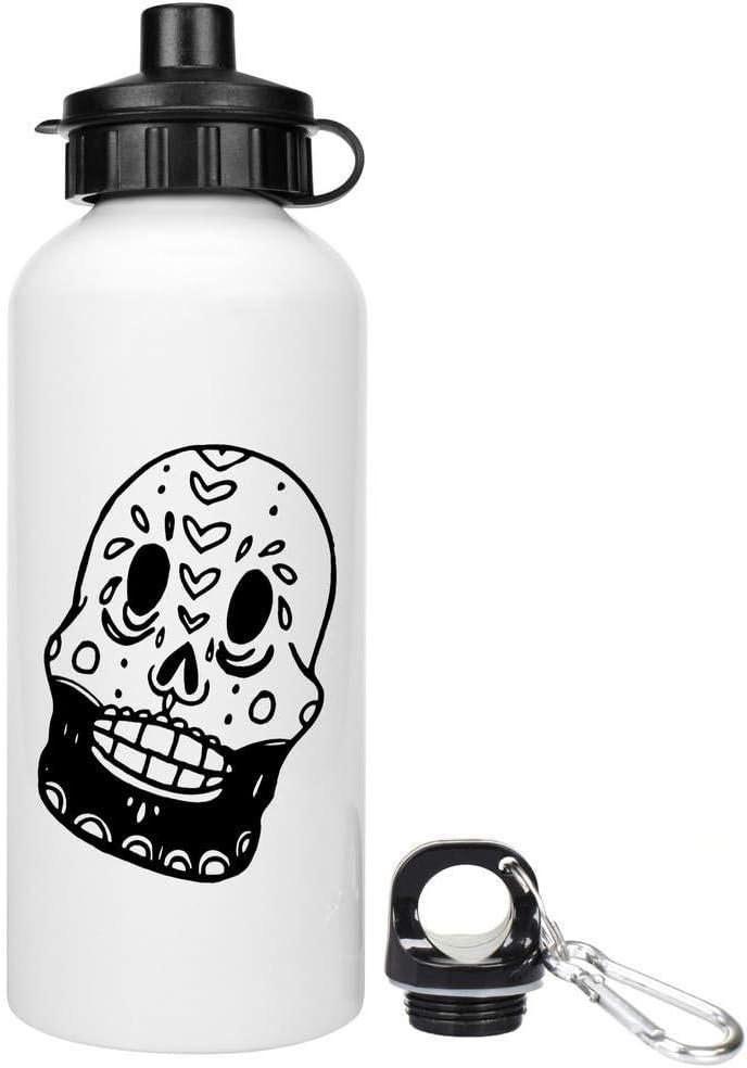 Azeeda 600ml Cráneo de azúcar Barbudo Agua Reutilizable / Bebidas Botella (WT00020783): Amazon.es: Juguetes y juegos